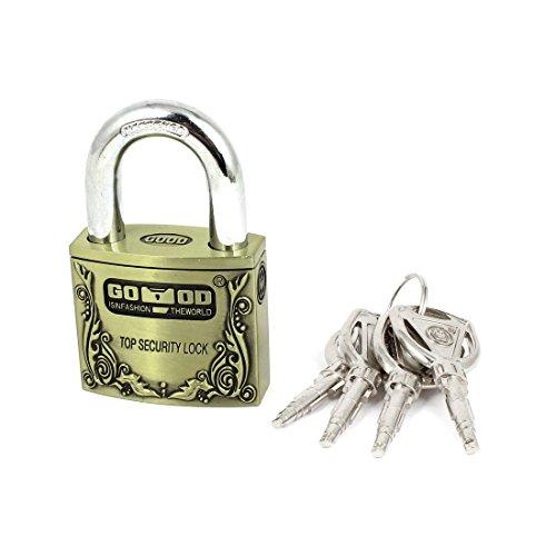 UPC 711331272874, Cabinet 50mm Width Security Hardened Shackle Lock Padlock w 4 Keys