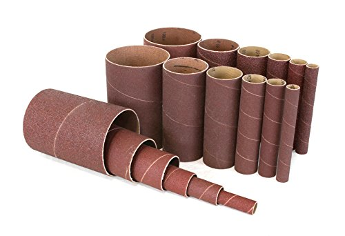 WEN 6510SPC Assorted Grits Spindle Sanding Sleeves (18 Pack) (Grit Drum Sander Sleeves)