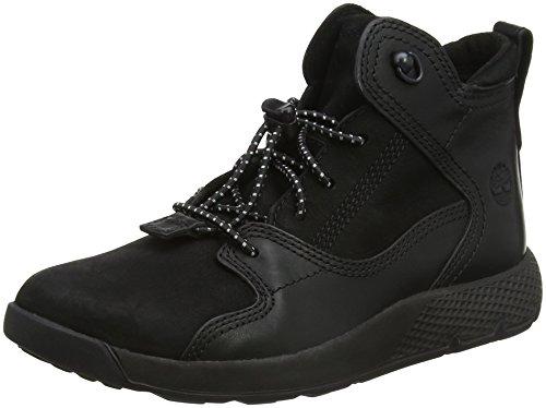 Timberland Unisex-Kinder Flyroam Leather Hiker Chukka Boots Schwarz (Jet Black Tbl Forty (Blackout) 015)