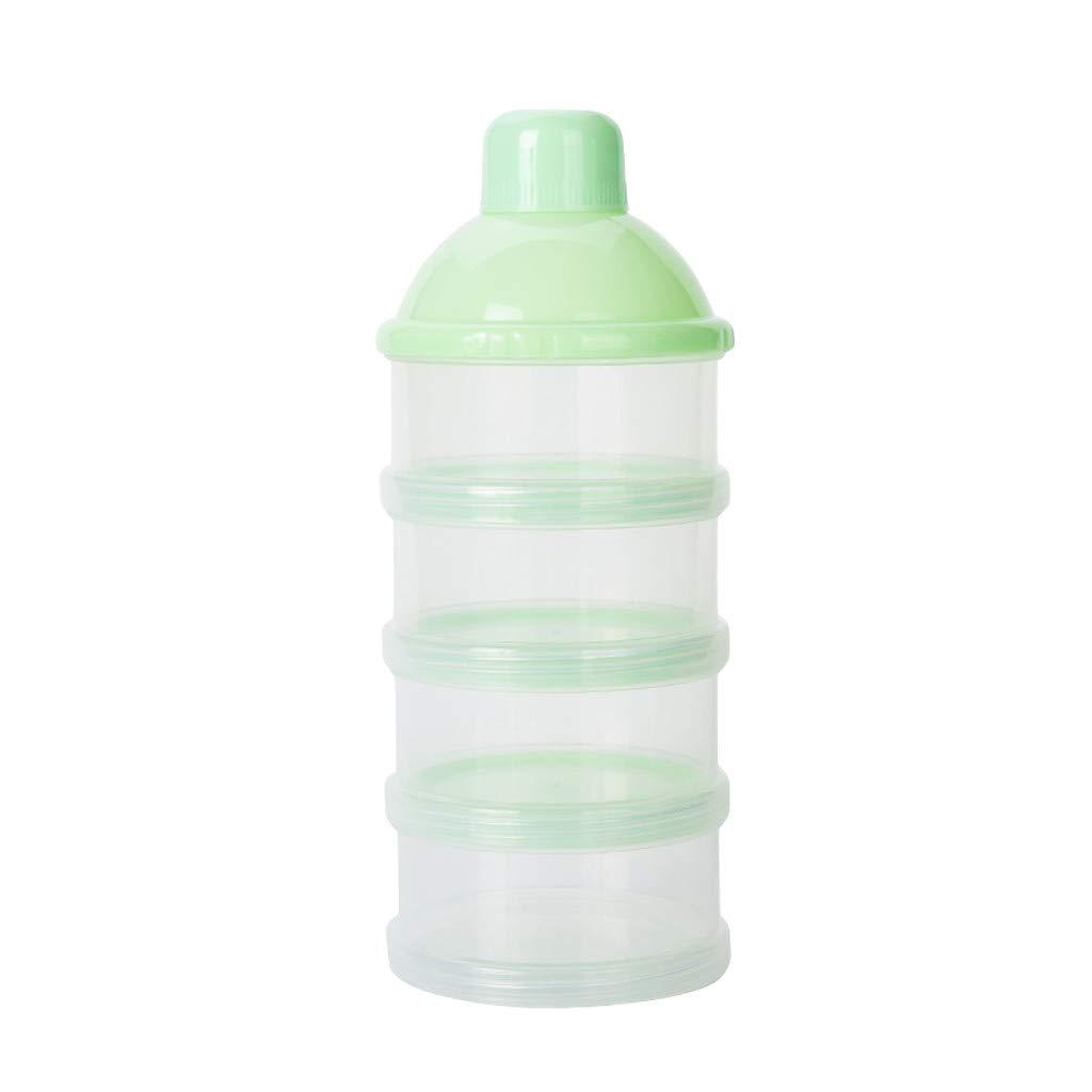 Kimanli Portable Detachable Milk Powder Box Safety Baby Milk Powder Container Snack Box