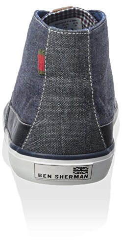Ben Sherman Mens Percy Hi Top Sneaker Navy Blazer 6xbVpoUWPx
