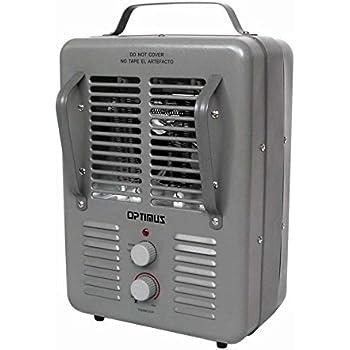 Amazon Com Utilitech 1500w 5 118 Btu Utility Fan Cabinet
