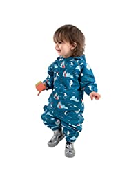 Jan & Jul Waterproof One-Piece Puddle-Dry Rain Play-Suit for Baby Toddler and Kids
