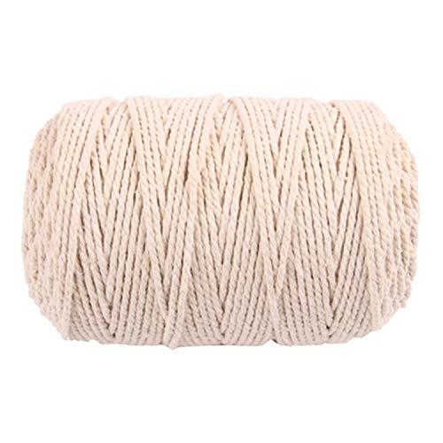100 mx 3 mm cuerda de algodón para tejer cuerda de bricolaje Bohemia  macrame decoración de pared artesanía hecha a mano blanco  Amazon.es  Hogar ff0d7a3cff9