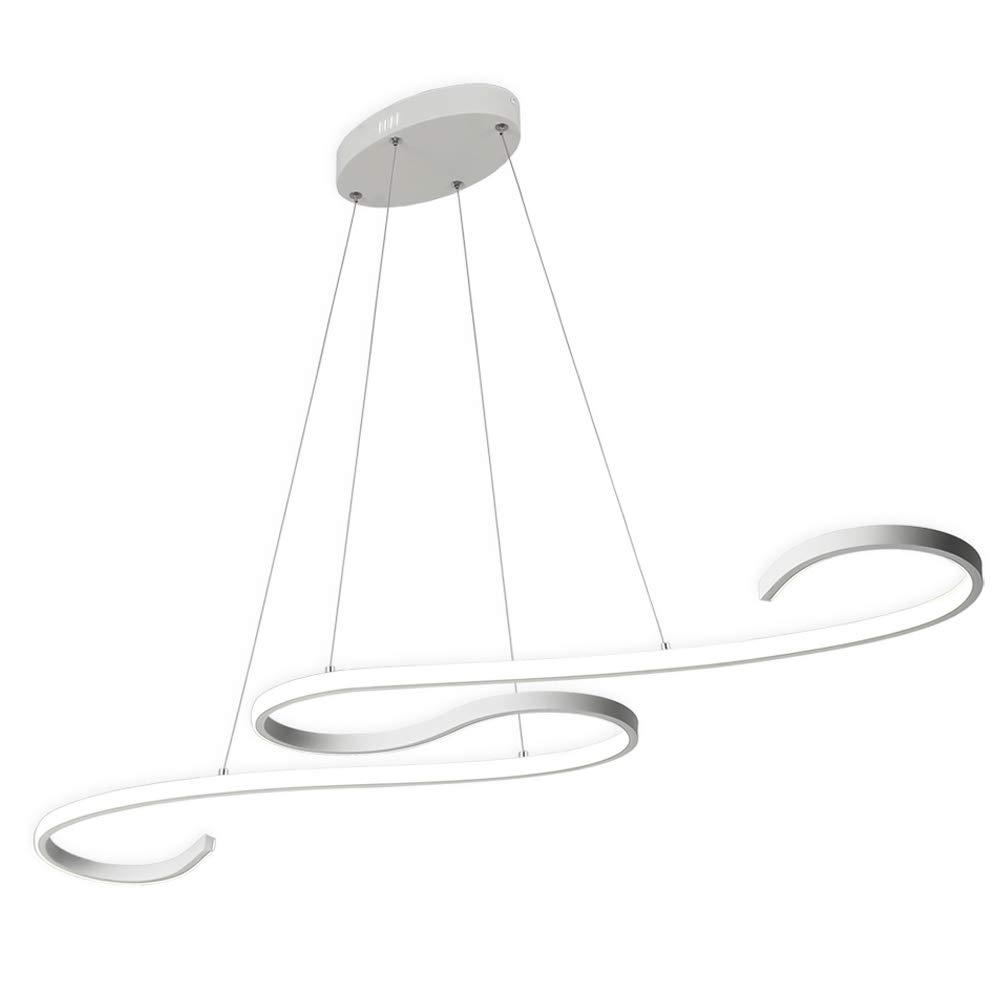 ZZ Joakoah Modern LED Pendant Light Fixture S Shape Ceiling Chandelier LED Hanging Light for Living Room Dining Room Bedroom,Nature White, 4000 K [Energy Class A++]