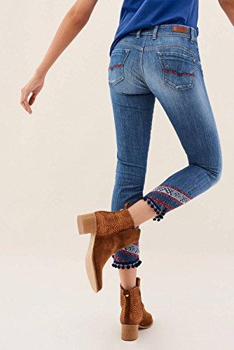 Salsa Jeans Wonder, Caprihose, mit Stickerei Blau