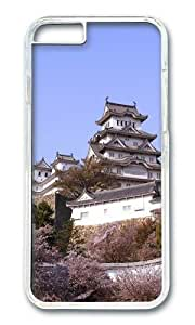iPhone 6 Plus Case,VUTTOO Stylish Japanese Temple And Cherry Trees Hard Case For Apple iPhone 6 Plus (5.5 Inch) - PC Transparent