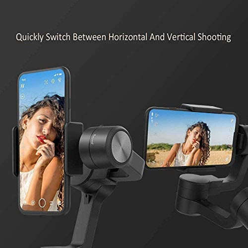 3-Axis Gimbal Stabilizer for iPhone 11 Xs Max XR X 8 7Plus 6 Smartphone Vlog Youtuber Samsung Galaxy Note10/10+ S10+ S9 POV Hitchcock Panorama Face Object Tracking Timelapse FeiyuTech Vimble 2S 410elN3GoxL