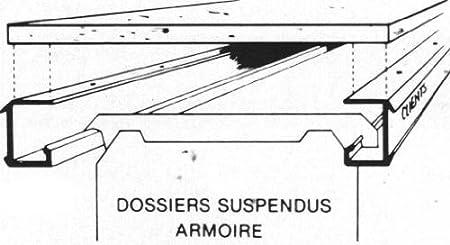 Jeu De 2 Rails En Aluminium A Visser Sous Tablette Bois Pour Dossiers Suspendus Amazon Fr Fournitures De Bureau