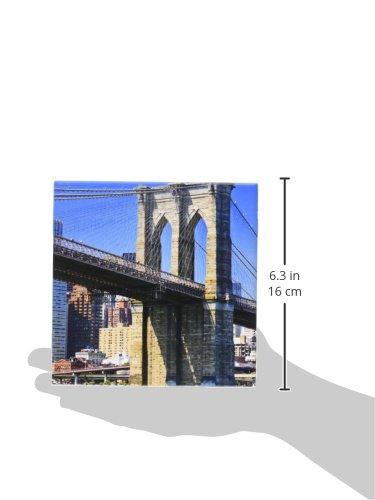 3dRose ct/_93055/_2 New York City Brooklyn Bridge Over East River US33 BJA0044 Jaynes Gallery Ceramic Tile 6-Inch