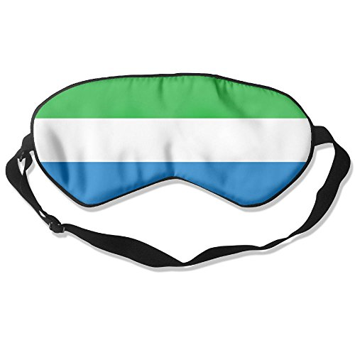 Flag Of Sierra Leone Adult Children Unisex Sleeping Eye Mask Natural Silk Cover With Adjustable Strap Blindfold Super-smooth - Oakley Lens Singapore