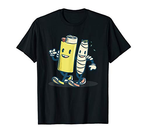 Funny Lighter & Joint Friends Shirt | Buds For Life  T-Shirt