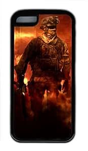 Customizablestyle Call of Duty Modern Warfare 2 iPhone 5C TPU Black Rubber Shell Case