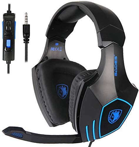 Xbox Headset, Stereo Surround Sound Gaming Headset with Mic for Xbox One, PS4, PS5, 3.5mm Noise Canceling Wired Over Ear…