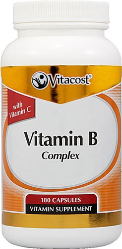 Vitacost Vitamin B Complex With Vitamin C -- 180 Capsules - 3PC by Vitacost Brand