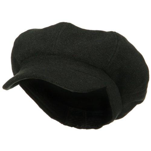E4hats Wool Cap (Big Size Classic Wool Newsboy Cap - Charcoal 2XL-3XL)