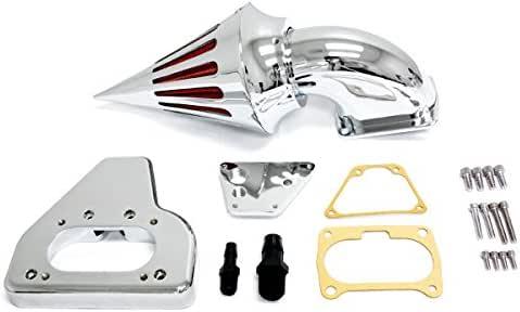 Krator Chrome Billet Aluminum Cone Spike Air Cleaner Kit Intake Filter for 2002-2009 Honda VTX 1800 Cruiser Motorcycle
