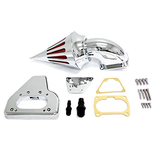Krator® 2002-2009 Honda VTX 1800 Cruiser High Quality Chrome Billet Aluminum Cone Spike Air Cleaner Kit Intake Filter (Billet Aluminum Air Cleaner)