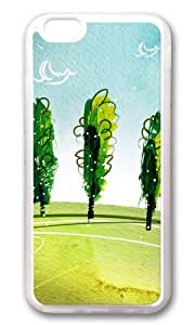 MOKSHOP Adorable Breath of spring landscape Soft Case Protective Shell Cell Phone Cover For Apple Iphone 6 Plus (5.5 Inch) - TPU Transparent