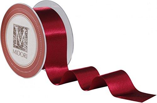 Double Faced Satin Ribbon - Garnet - Holiday Red Ribbon (2
