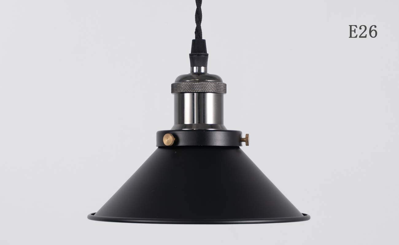 STGLIGHTING 4-Pack 7.08 Industrial Vintage Metal Bulb Guard Black Iron Cone Ceiling Holder DIY Light Shade Decorative Replacement Lamp Shade for Pendant Light Table Lamp Wall lamp Wall Sconce