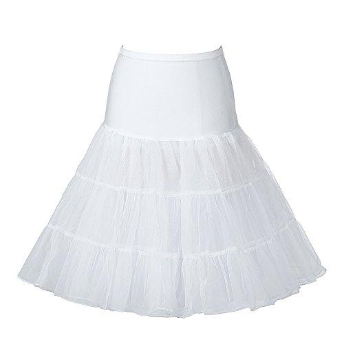 Boolavard 50's Petticoat Underskirt Retro Vintage 1950's Rockabilly White, Black, Red Avorio