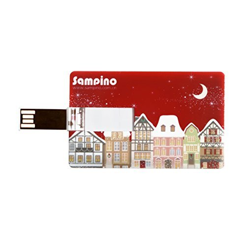 Sampino 16GB USB Flash Drive USB Thumb Stick USB 2.0 ,Credit Card Bank Card Shape USB Flash Drive Pen Drive Memory Stick. Compatible for Win98/ME/2000/XP/Vista/7, Mac OS 9.X/Linux2.4