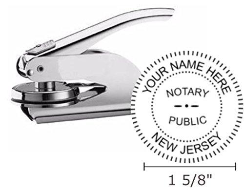 Pocket Seal Embosser - New Jersey Notary Seal Embosser, Pocket/Hand Model, 1-5/8