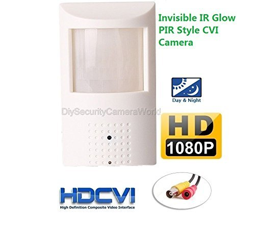 HD-CVI 2MP IR Spy Motion Detector Covert Camera: 1080p 2MP PixelPlus CMOS, Infrared LED x48 nightvision, 3.7mm lens, MUST BE USED WITH A CVI CAPABLE DVR!
