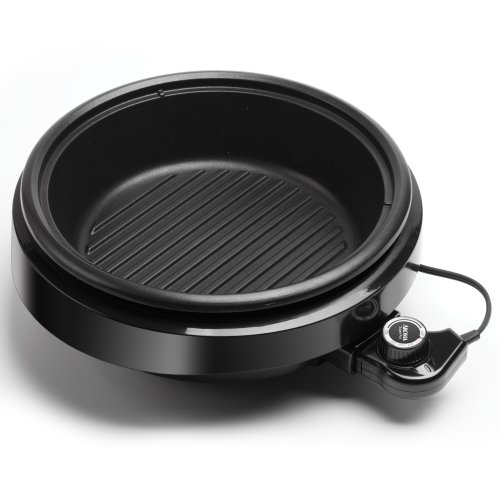 Aroma Housewares  ASP-137B 3-Quart/10-inch 3-in-1 Super Pot with Grill Plate, Black by Aroma Housewares (Image #1)