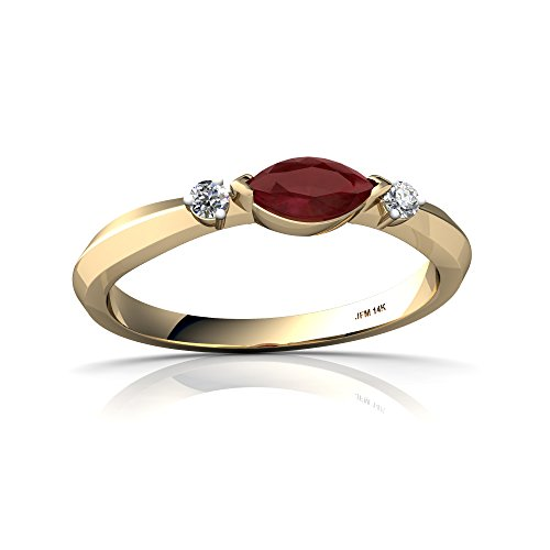 art deco ruby ring - 6