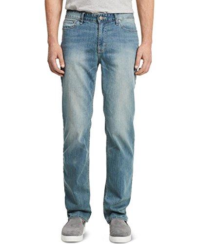 Calvin Klein Men's Straight Jeans, Silver Bullet, 36x32