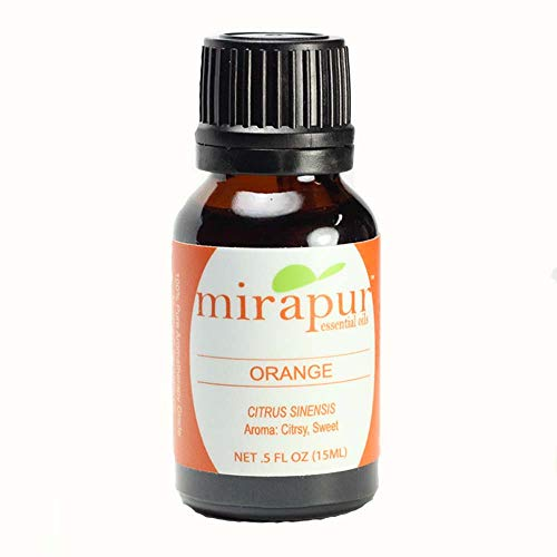 Sweet Orange 10-Fold Essential Oil, 100% Pure All Natural, Aromatherapy Grade, Expressed, USA