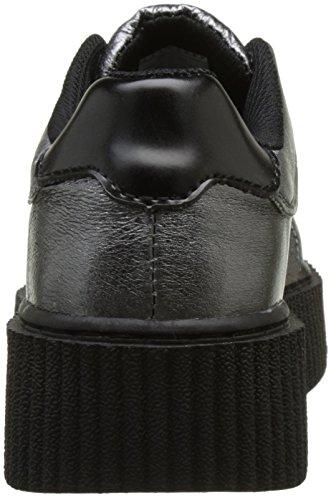 Femmes graphite T k Metallic Argent u Casbah Chaussures Leather Creeper nPPpI0xg