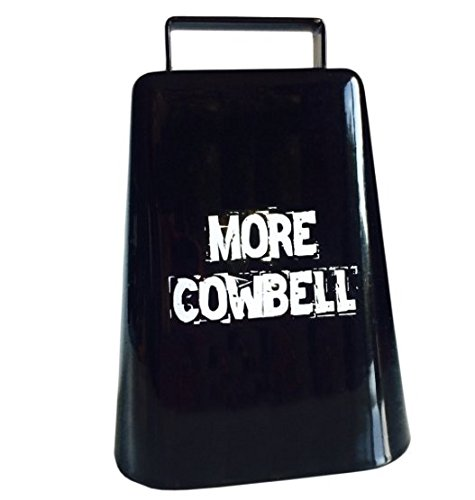 MORE COWBELL 5'' high Cow Bell for Cheering at Sporting Events: Hockey, Football, Soccer, Baseball, Cyclocross, Cycling by Cow-bell (Image #3)