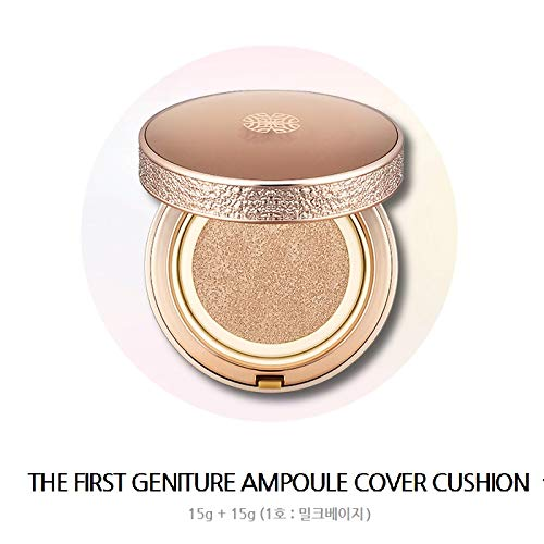 OHUI THE FIRST GENITURE AMPOULE cover chshion 15g*2 NO.1 Milk beige B07TW9S6XX