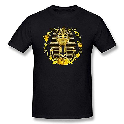Gold King Pharaoh Tutankhamun Egypt Tut Egyptian Men's ComfortSoft Short-Sleeve T-Shirt (6xl 6x T-shirt)