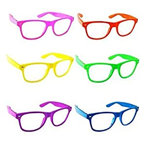 Color Clear Lens Glasses Nerd Glasses Buddy Holly Wayfarer 6