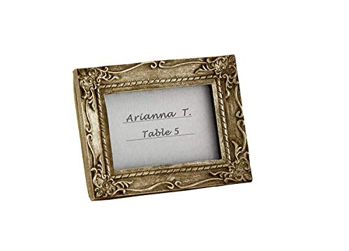 6''Work of Art'' Antique-Finish Place Card Holders/Photo Frames - Antique-Gold by Kate Aspen