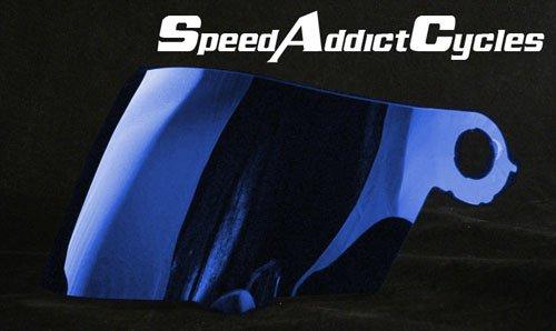 (Suomy Spec-1R / Extreme / Apex / Excel Blue Iridium Shield)