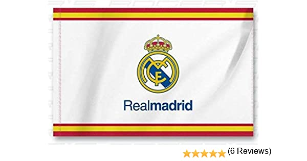 Bandera Real Madrid Blanca - Blanca 150x100 cm 5x3: Amazon.es ...