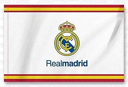 Bandera Real Madrid Blanca - Blanca 150x100 cm 5x3: Amazon.es: Industria, empresas y ciencia