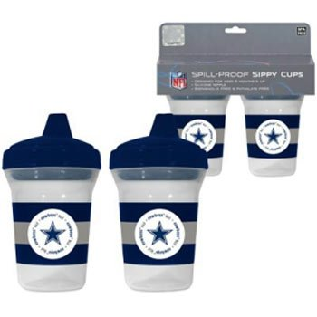 3802b12404e Amazon.com : Dallas Cowboys NFL Baby Sippy Cup - 2 Pack : Baby Drinkware :  Baby