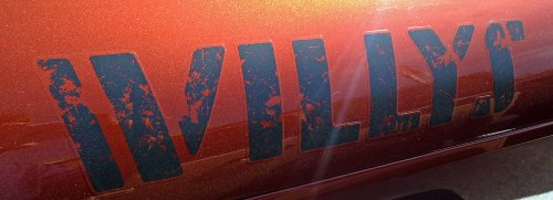 "Jeep ""Willys"" Hood Decal"