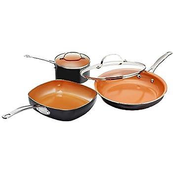 Amazon Com Copper Chef 9 Piece Round Set Kitchen Amp Dining