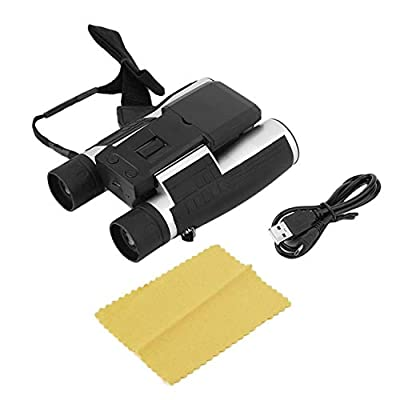 "anyilon Full HD 1080P Digital Camera 2.0 LCD 12x32 HD Black Binoculars Telescope Folding with Built-in Digital Camera"""