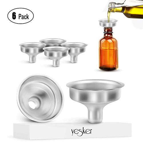 Yesker Stainless Steel Mini Funnel for Essential Oil Bottles Flasks ()