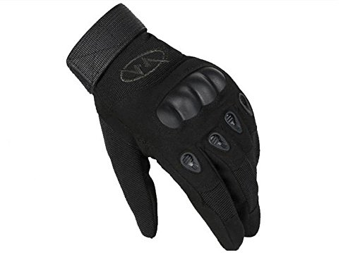 Myheartgoon Mens Tactical Gloves Hard Knuckle Full Finger Military Gear, Cycling / Motorcycle Warm Gloves (Black, M)
