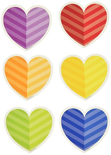 Creative Teaching Press Rainbow Hearts Cut Outs, 3