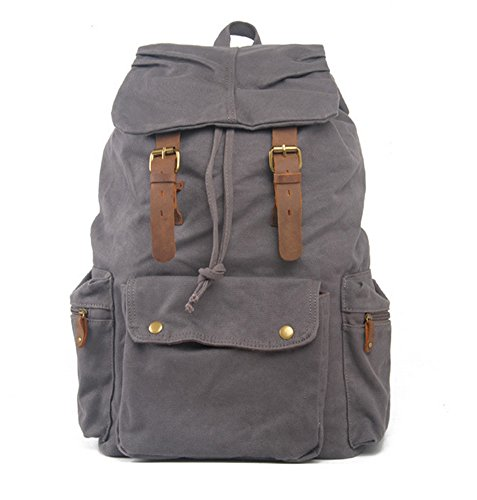 Keral - Bolso mochila de Lona para mujer - Armee-Grün Gris - Grau1